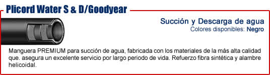 Manguera Goodyear plicord water sd